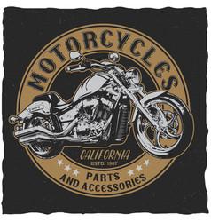 California motorcycles parts poster vector