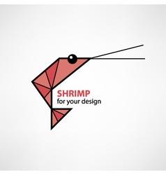 Cartoon shrimp vector