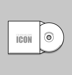 Cd cover template dwd vector