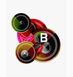 colorful glossy circles background vector image