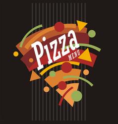 colorful pizza menu template vector image