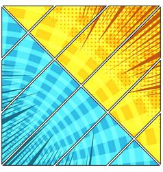 Comic book diagonal composition vector