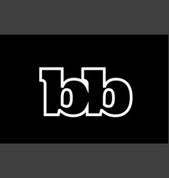 Connected bb b b black and white alphabet letter vector