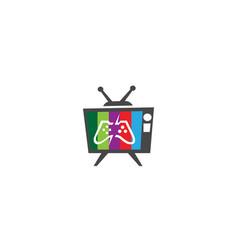 console video games a controller gadget for logo vector image