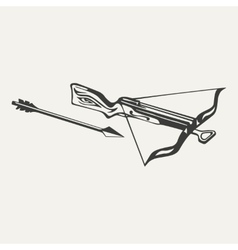 crossbow Black and white style vector image