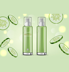 cucumber cream collection realistic vector image