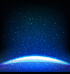 dark blue space background vector image