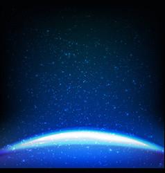 Dark blue space background vector