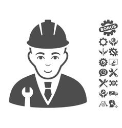 Developer Icon With Tools Bonus vector