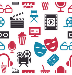 Digital red white cinema vector