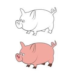 Doodle Sketchy Pig vector image