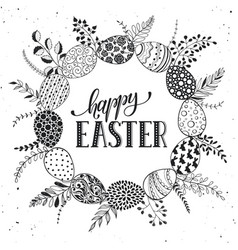 Easter greetting card vector