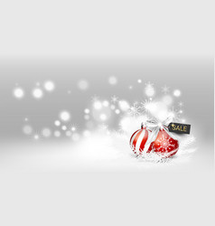 elements snowing christmas white background in vector image