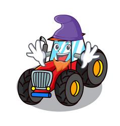 Elf tractor character cartoon style vector
