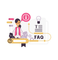 faq online assistance frequently asked questions vector image
