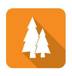 Fir trees flat icon vector