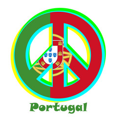 Flag of portugal as a sign of pacifism vector