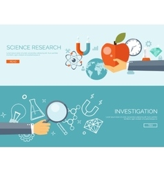 flat research background vector image