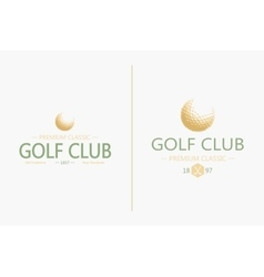 Golf labels and badges made in Golf vector image