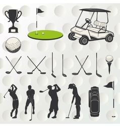 Golf player silhouette vector