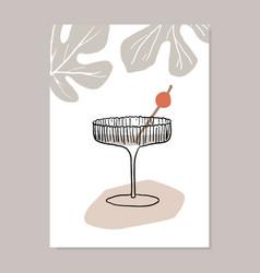 hand drawn summer party greeting card invitation vector image