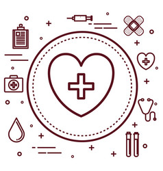 healthcare related objects design vector image