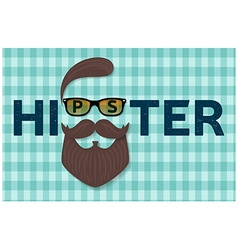 Hipster typography design Hipster style hair vector