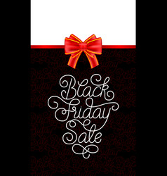 holiday gift card with hand lettering black friday vector image