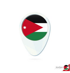 Jordan flag location map pin icon on white vector