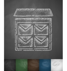 Letter-box icon vector