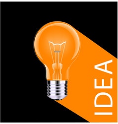 light bulb - business icon long shadow vector image