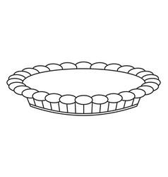 Line art black and white thanksgiving pie vector