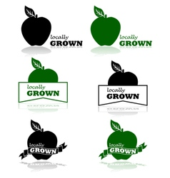 Locally grown vector image