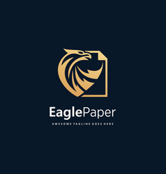 logo eagle paper gold color luxury vector image