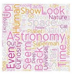 Lookuup in the sky text background wordcloud vector