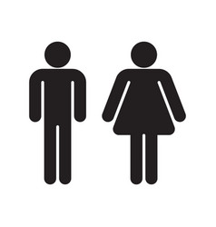Man and woman black silhouettes vector