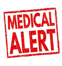 medical alert sign or stamp vector image