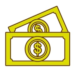 Money and business graphic design flat icon vector