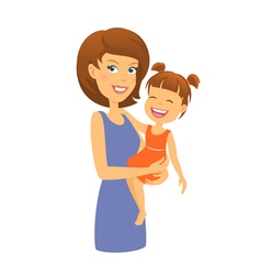 Mother with daughter Mom and child vector