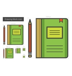 Notebook line icon vector