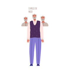 old people with dementia symptoms vector image