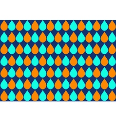 Orange Blue Water Drops Navy Background vector