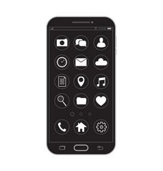 outline drawing black smartphone elegant thin vector image