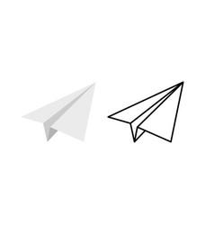 paper plane icon set origami paper vector image