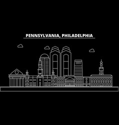 Philadelphia silhouette skyline usa vector