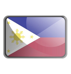 philippines flag on white background vector image