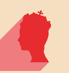 profile of princess or queen vector image