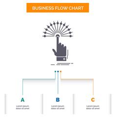 Reach touch destination digital analytic business vector