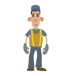 Road worker cartoon vector image