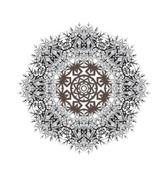 Round ornamental shape pattern of vector image